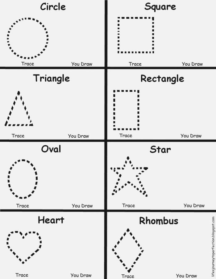 Life S Journey to Perfection Preschool Shapes Worksheet