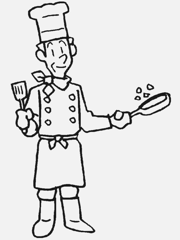 Master Chef In Munity Helpers Coloring Page Netart