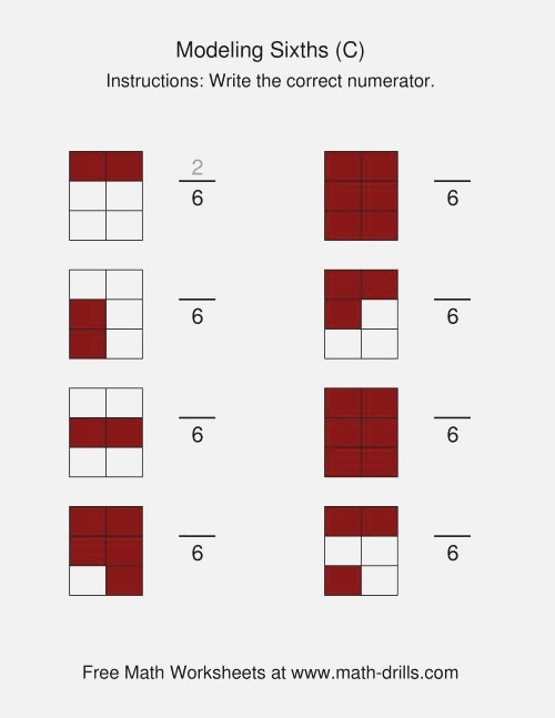 Modeling Fractions Sixths C