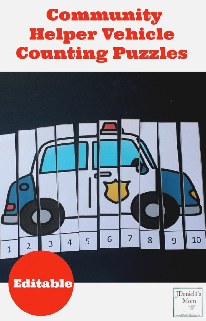 Munity Helper Vehicle Counting Puzzles