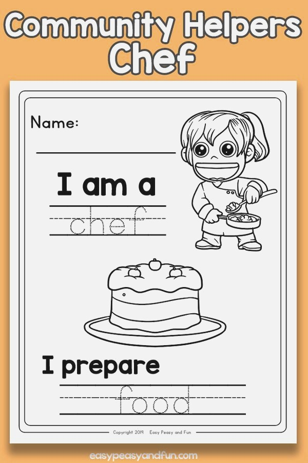 Munity Workers Chef Worksheets