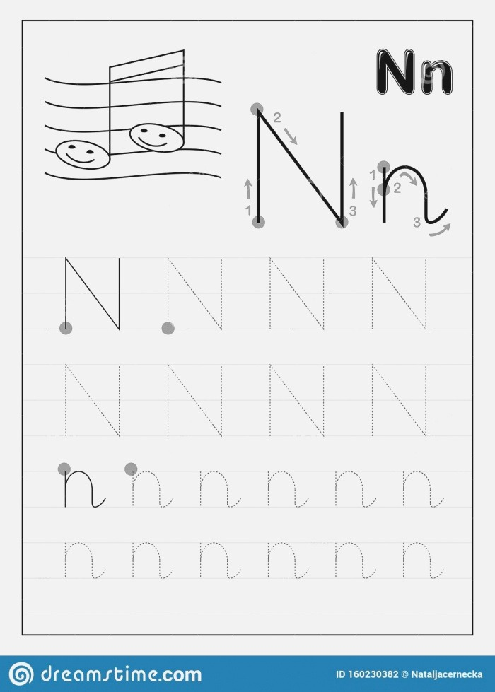 N Letter Tracing