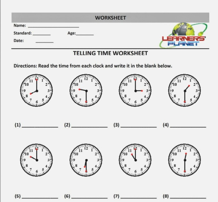 New 751 First Grade Worksheet On Telling Time