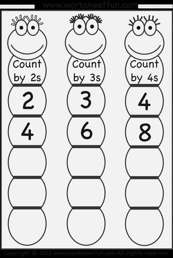 New 949 Free Worksheets Counting by 3 S
