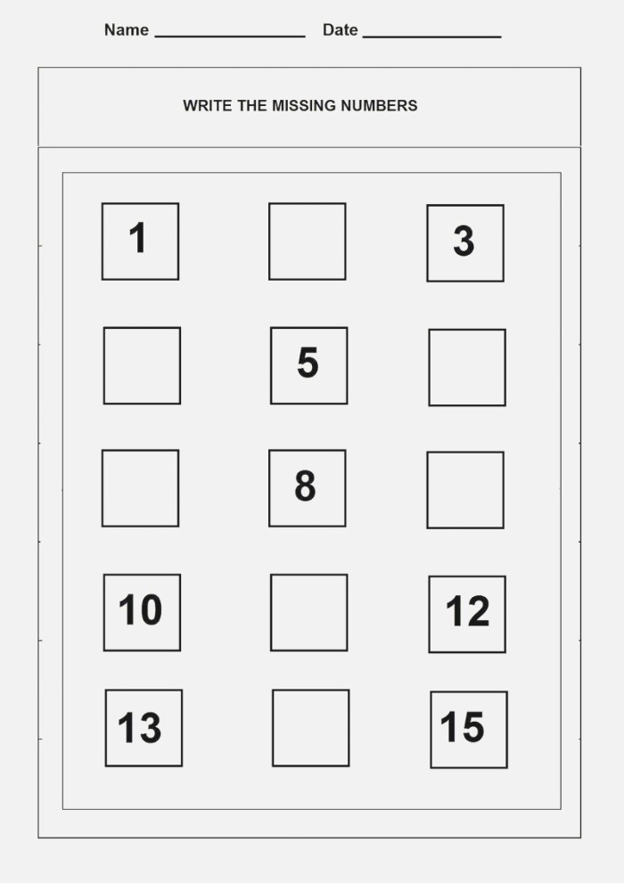 Number 15 Worksheet Counting Coloring Sheets
