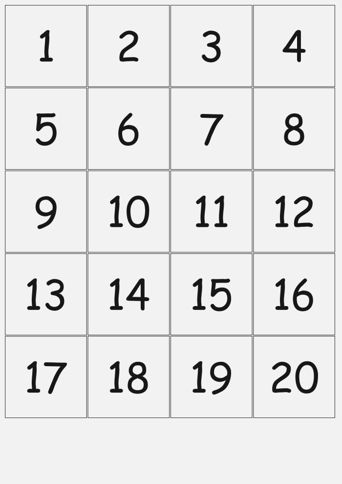 Number Printable Gallery Category Page 3