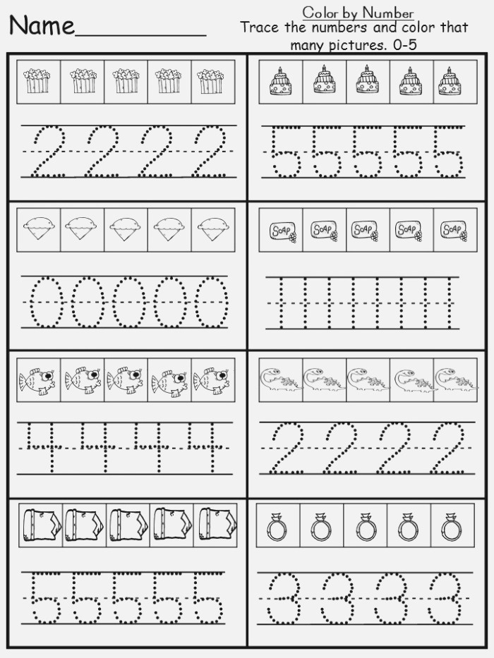 Number Tracing Worksheet Free Download now