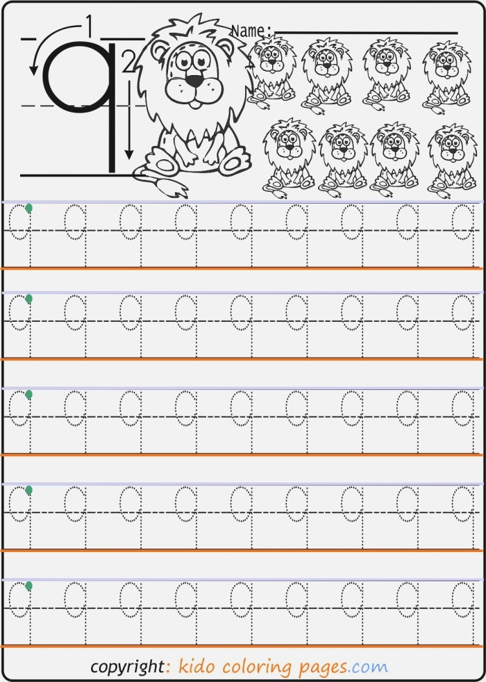 Number Tracing Worksheets 9 Number Print Out Kids