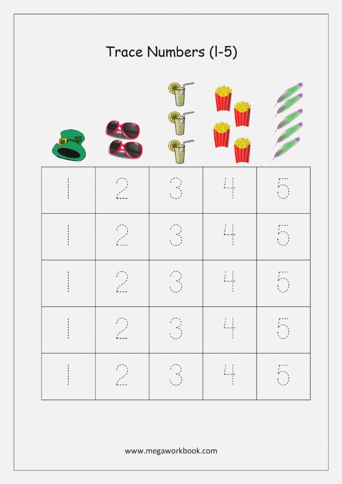 Numbers 1 5 Tracing Worksheets
