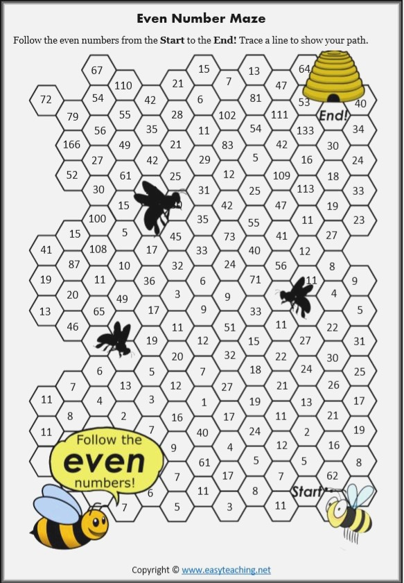 Odd and even Number Worksheets • Easyteaching In 2020