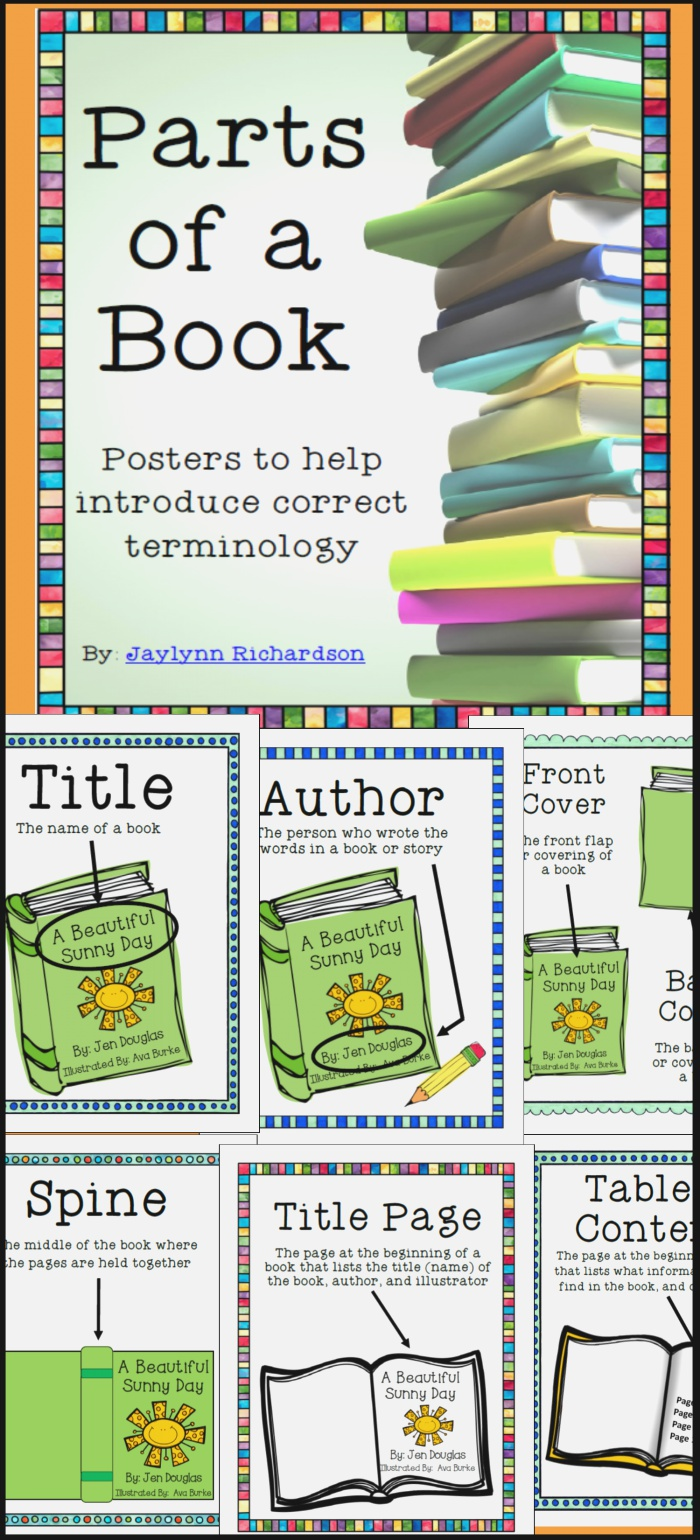 Parts Of A Book Posters