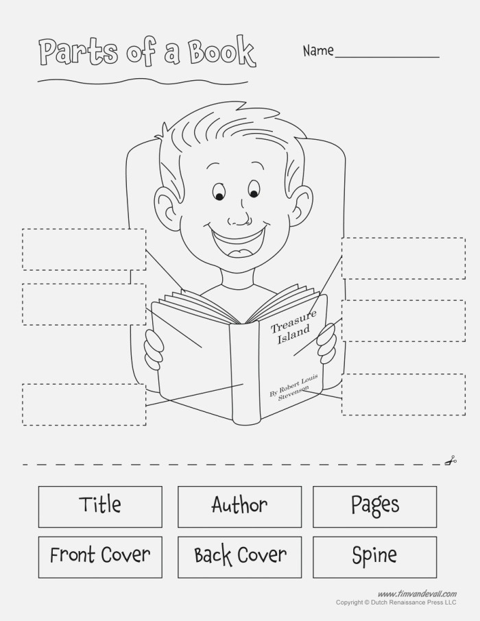 Parts Of A Book Tim S Printables