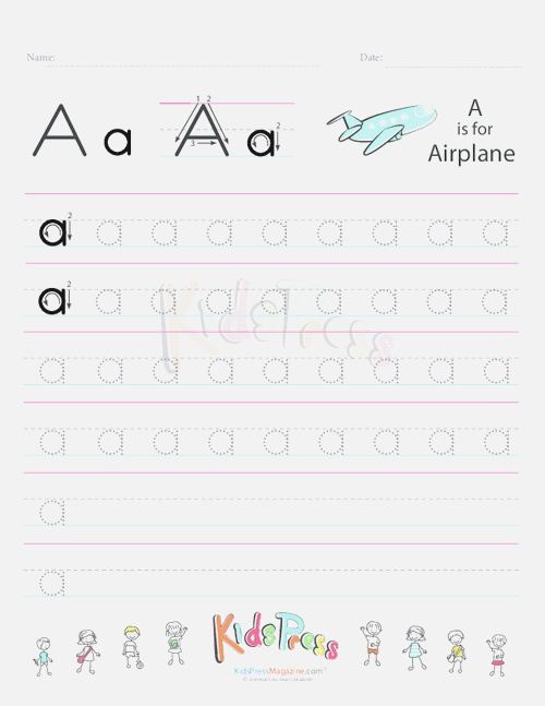 Practice Lower Case Letter A Handwriting