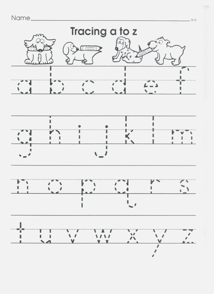 Practice Writing Lowercase Letter Worksheets with Images