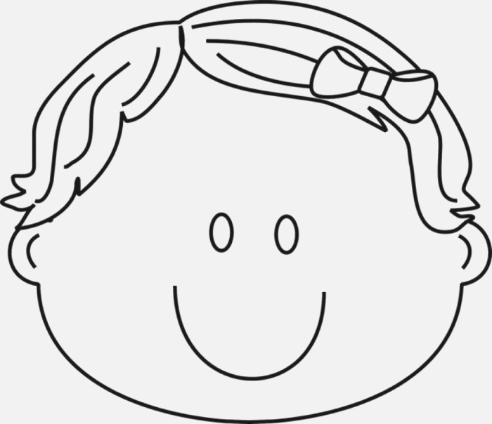 Printable Face Coloring Pages for Kids