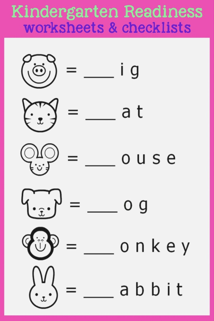 Printable Kindergarten Readiness Test that are