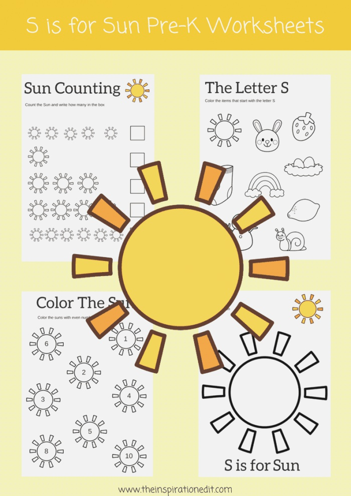 S is for Sun Letter S Worksheets · the Inspiration Edit
