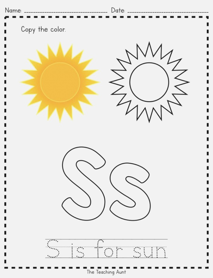 S is for Sun Paper Pasting Activity with Images