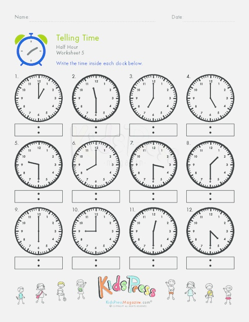 """Search Results for """"telling Time to the Hour Worksheets"""