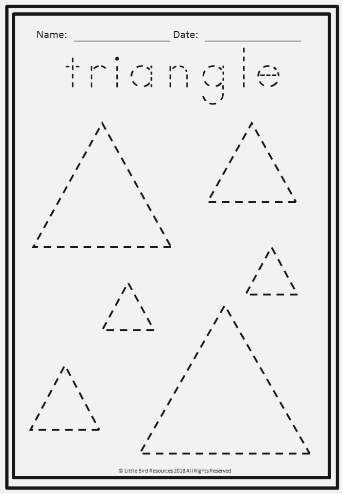 Shapes Trace and Draw Worksheets