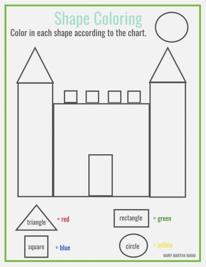 Shapes Worksheets for Preschool [free Printables] – Mary