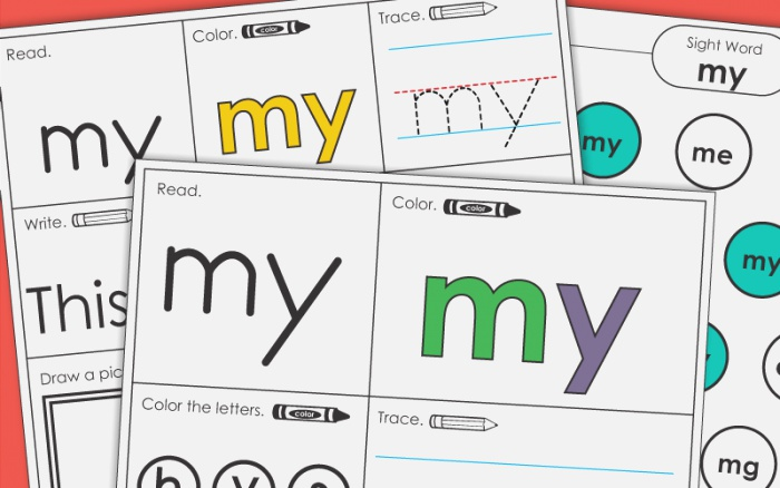 Sight Word My Worksheets