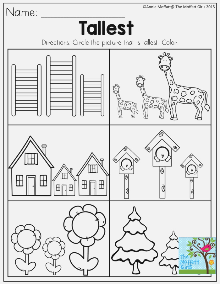 Tallest tons Of Great Printables for Preschool