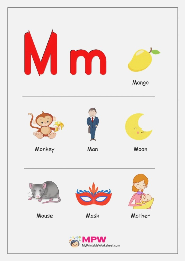 Things that Start with A B C D E for Preschool