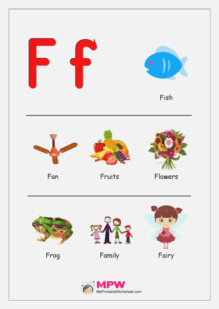 Things that Start with F G H I J for Preschool