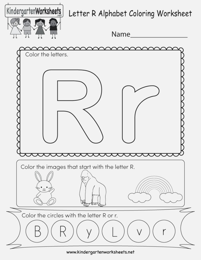 This is A Letter R Coloring Worksheet Children Can Color