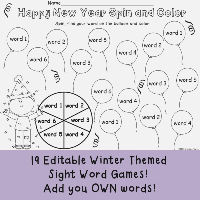 This Set Includes 19 Winter themed Game Pages to Practice