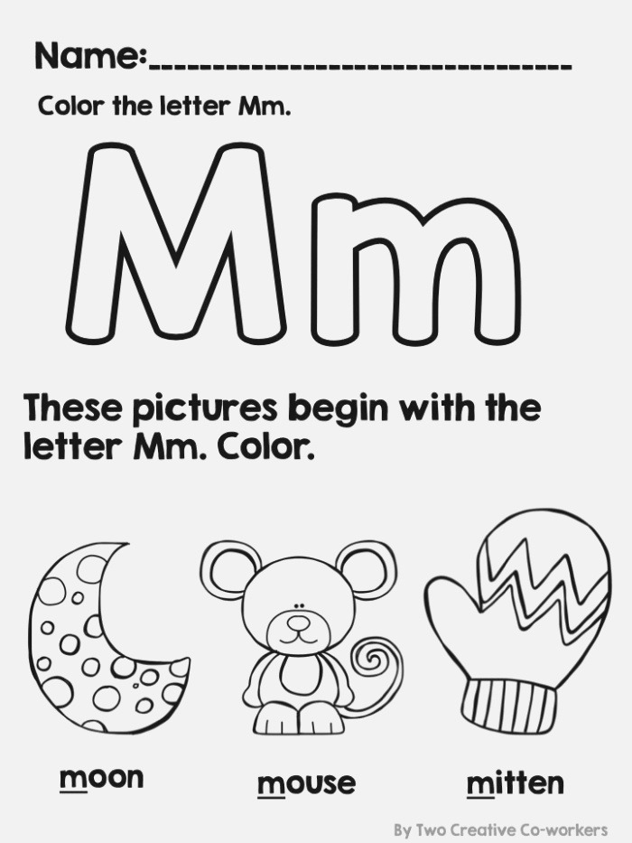 This Worksheet is Great for Introducing the Letter Mm