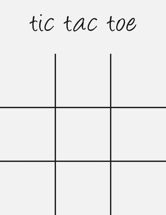 Tic Tac toe Board Printable 5 Minutes for Mom