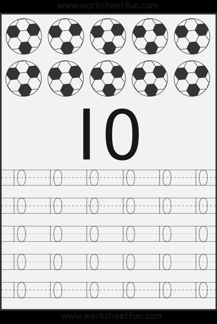 Tracing Numbers 10 20 Worksheets