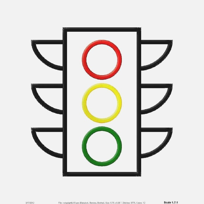 Traffic Light Coloring Pages Clipart Best