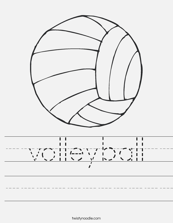 Volleyball Worksheet Twisty Noodle