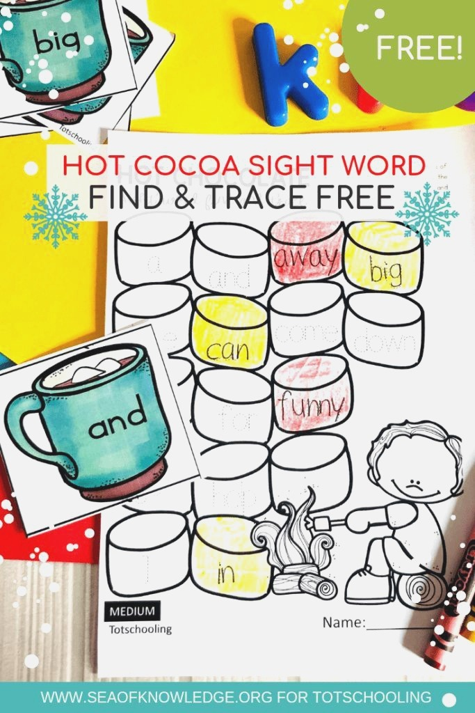 Winter Free Sight Word Worksheets Sight Word Reading and