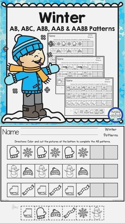 Winter Printable Patterns Includes Ab Abc Aabb Aab and