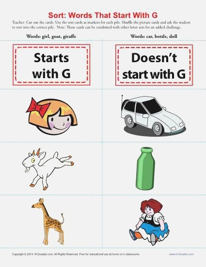 Words Starting with G