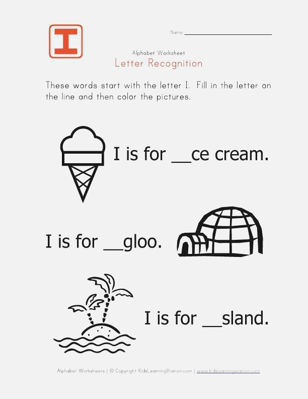 Words that Start with the Letter I