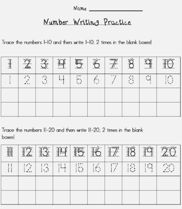 Write Numbers 1 20 Worksheet Activity Coloring Sheets