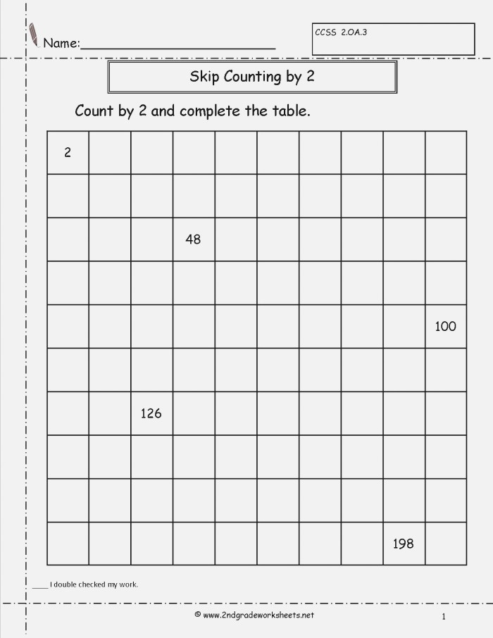 10 Best Of Worksheets Counting to 200 Skip