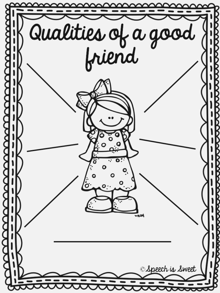 12 Best Of What Makes A Friend Worksheet Pie
