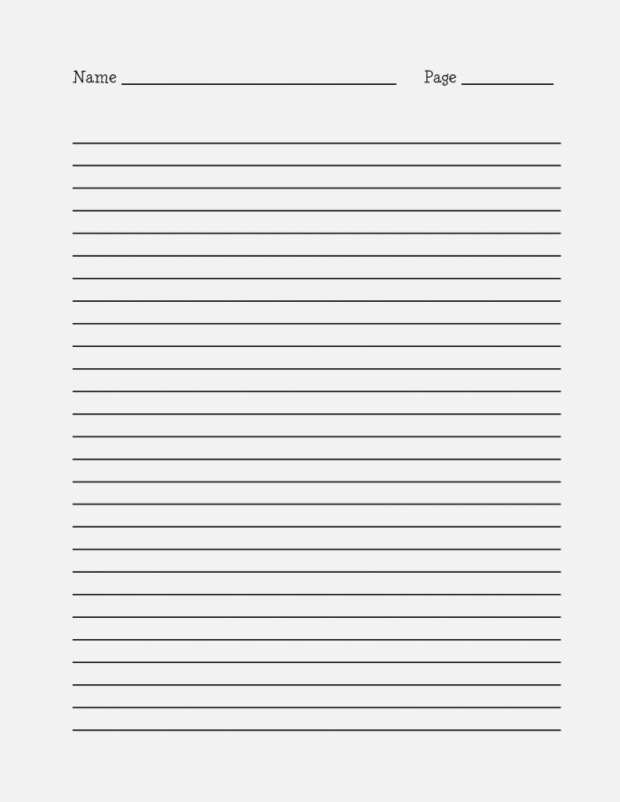 15 Best Of Long Lined Paper Worksheets 4th Grade