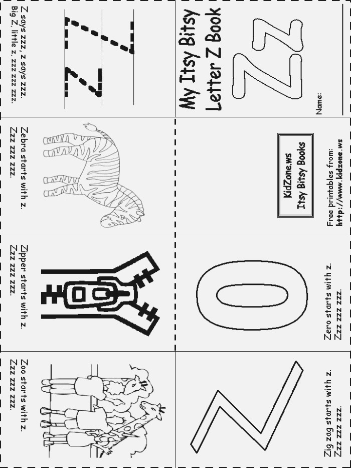 17 Best Images About Letter Z Activities On Pinterest