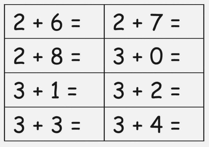 25 Subtraction Flash Cards