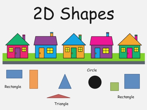 2d Shapes Houses Presentation by Sman 123 Teaching