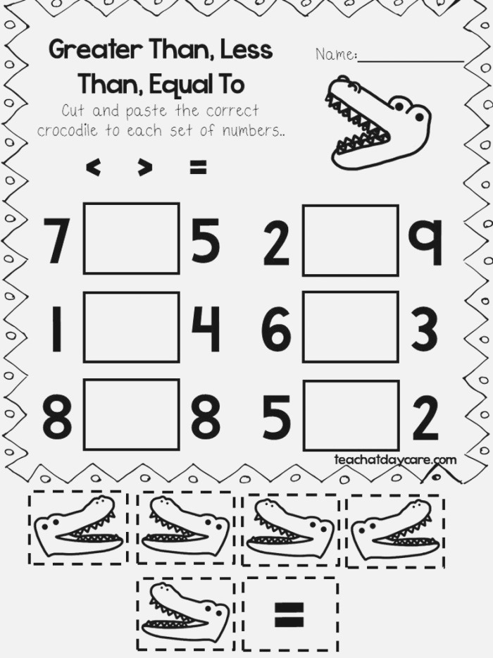 30 Printable Greater Than Less Than Equal to Worksheets