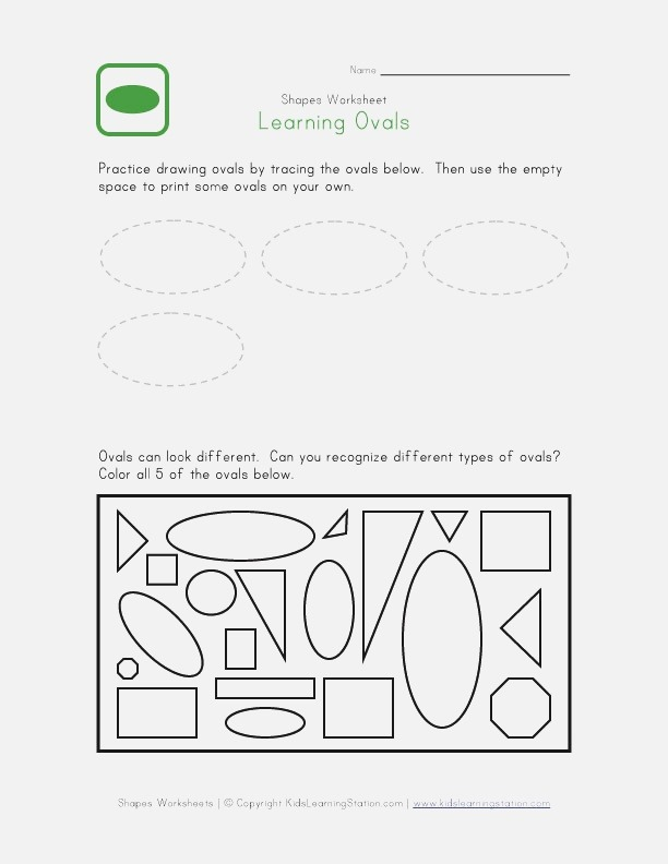 5 Best Of Oval Worksheets Free Printable Oval