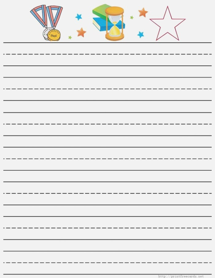 6 Best Of Elementary Writing Paper Printable